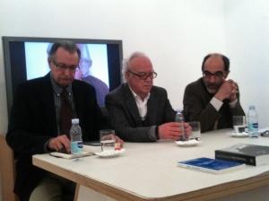 Sessão de homenagem a Fernando Aires, com Vamberto de Freitas, Daniel de Sá e Urbano Bettencourt