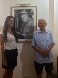 Nereu do Vale Pereira, Vice-presidente do Instituto Histórico e Geográfico de Santa Catarina (Brasil), e uma neta,  visitam o ICPD