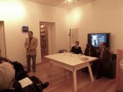 Sessão de homenagem a José Martins de Garcia, com António Machado Pires, Rosa Goulart e Urbano Bettencourt