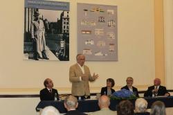 Intervenção de Jorge Forjaz, apresentador do livro (Fotog. © Manuel Aguiar)