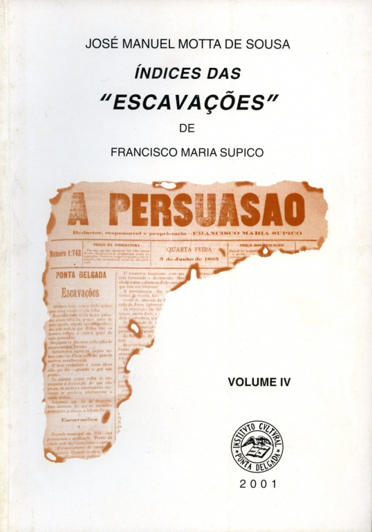 "INDICES DAS ""ESCAVAÇÕES"" DE FRANCISCO MARIA SUPICO"